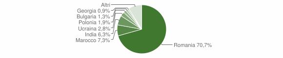 Grafico cittadinanza stranieri - Motta San Giovanni 2019
