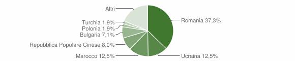 Grafico cittadinanza stranieri - Amantea 2009