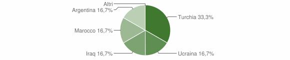 Grafico cittadinanza stranieri - Conflenti 2004