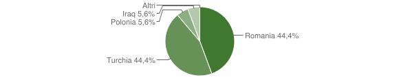 Grafico cittadinanza stranieri - Conflenti 2012