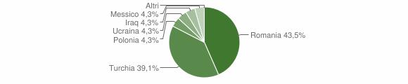 Grafico cittadinanza stranieri - Conflenti 2013