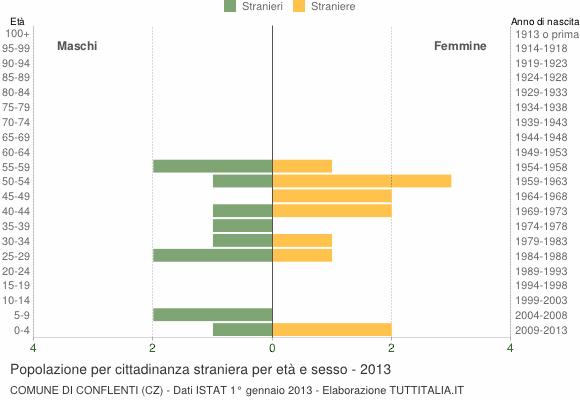 Grafico cittadini stranieri - Conflenti 2013