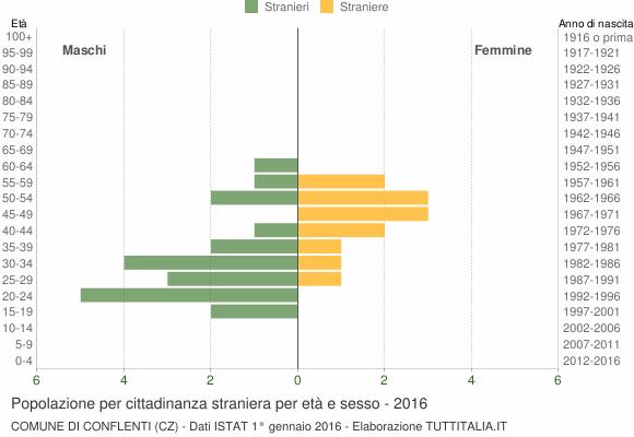 Grafico cittadini stranieri - Conflenti 2016