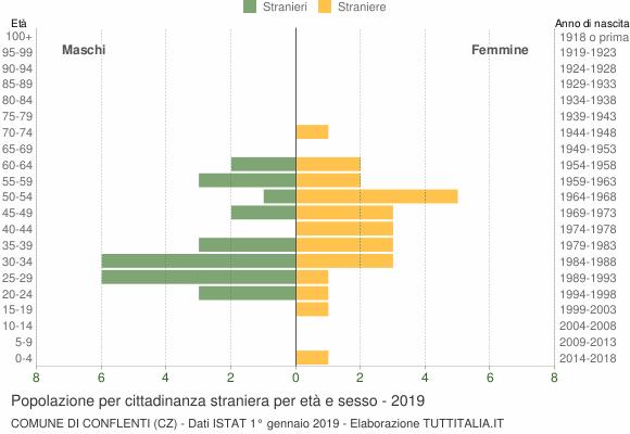 Grafico cittadini stranieri - Conflenti 2019