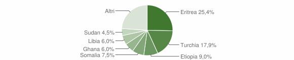 Grafico cittadinanza stranieri - Riace 2006