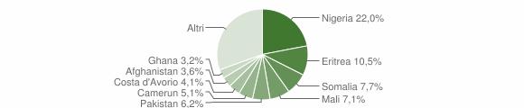 Grafico cittadinanza stranieri - Riace 2017