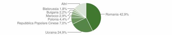 Grafico cittadinanza stranieri - Roccella Ionica 2010
