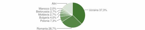 Grafico cittadinanza stranieri - Roccella Ionica 2012