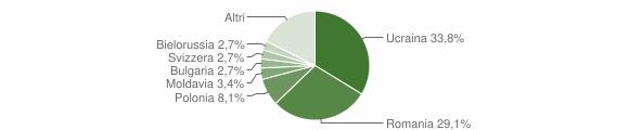 Grafico cittadinanza stranieri - Roccella Ionica 2013