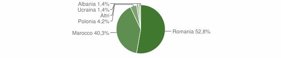 Grafico cittadinanza stranieri - Fiumara 2014