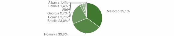 Grafico cittadinanza stranieri - Fiumara 2015