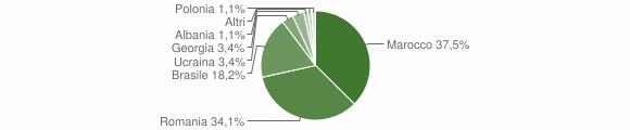 Grafico cittadinanza stranieri - Fiumara 2016
