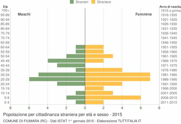 Grafico cittadini stranieri - Fiumara 2015