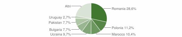 Grafico cittadinanza stranieri - Nicotera 2014