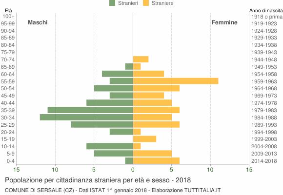 Grafico cittadini stranieri - Sersale 2018