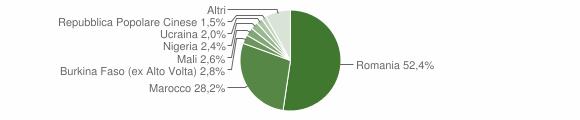 Grafico cittadinanza stranieri - Rizziconi 2018