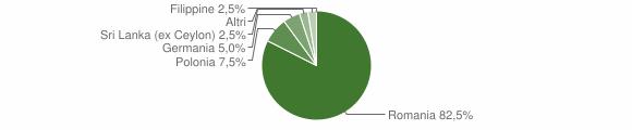 Grafico cittadinanza stranieri - Serrata 2011