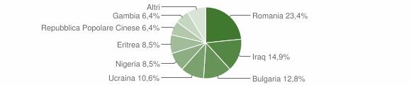 Grafico cittadinanza stranieri - Melicuccà 2018