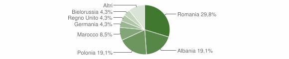 Grafico cittadinanza stranieri - Caccuri 2013