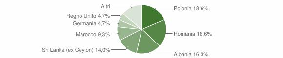 Grafico cittadinanza stranieri - Caccuri 2018