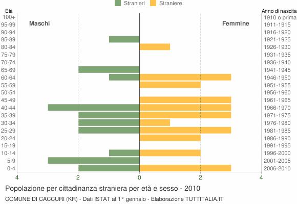 Grafico cittadini stranieri - Caccuri 2010