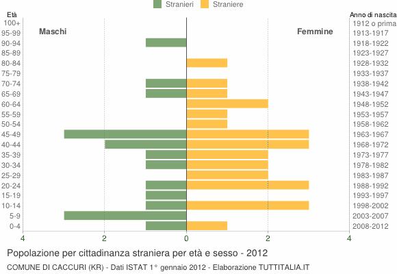 Grafico cittadini stranieri - Caccuri 2012