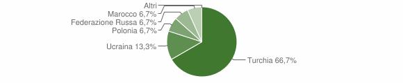 Grafico cittadinanza stranieri - Gagliato 2006
