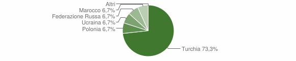 Grafico cittadinanza stranieri - Gagliato 2007