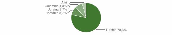 Grafico cittadinanza stranieri - Gagliato 2012