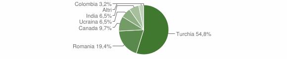 Grafico cittadinanza stranieri - Gagliato 2015