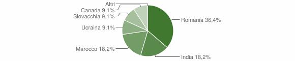 Grafico cittadinanza stranieri - Gagliato 2019