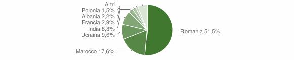 Grafico cittadinanza stranieri - Pianopoli 2013