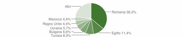 Grafico cittadinanza stranieri - San Lucido 2017