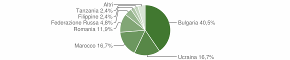 Grafico cittadinanza stranieri - Filadelfia 2005