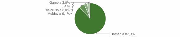 Grafico cittadinanza stranieri - San Floro 2014
