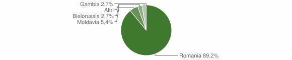 Grafico cittadinanza stranieri - San Floro 2015