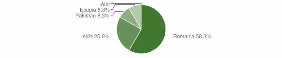 Grafico cittadinanza stranieri - Platì 2019