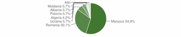 Grafico cittadinanza stranieri - Cittanova 2009