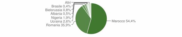 Grafico cittadinanza stranieri - Cittanova 2019