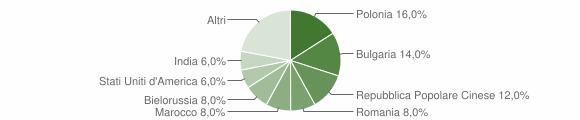 Grafico cittadinanza stranieri - Satriano 2013