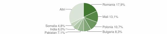 Grafico cittadinanza stranieri - Satriano 2016