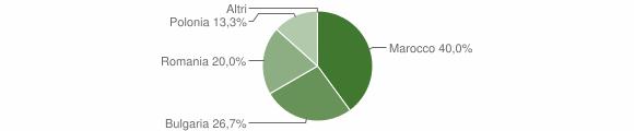 Grafico cittadinanza stranieri - Sorianello 2013