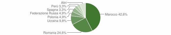 Grafico cittadinanza stranieri - Acquappesa 2016