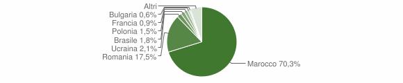 Grafico cittadinanza stranieri - Gizzeria 2014
