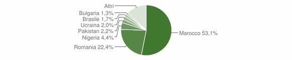 Grafico cittadinanza stranieri - Gizzeria 2018