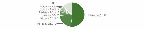 Grafico cittadinanza stranieri - Gizzeria 2019