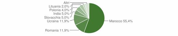 Grafico cittadinanza stranieri - Limbadi 2007