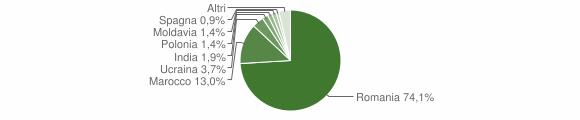 Grafico cittadinanza stranieri - Limbadi 2019