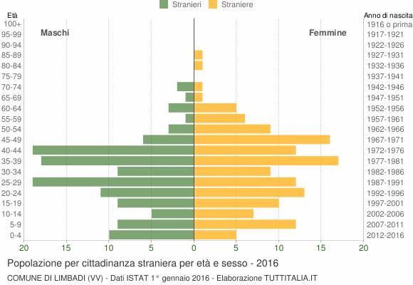 Grafico cittadini stranieri - Limbadi 2016