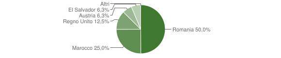 Grafico cittadinanza stranieri - Maierà 2009